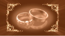 Royalty Free HD Video Clip of Rotating Victorian Wedding Rings