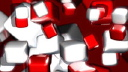 Royalty Free Video of Moving Red and White Cubes