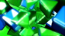 Royalty Free Video of Moving Green and Blue 3D Triangles