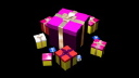 Royalty Free Video of Rotating Presents