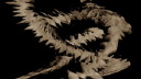 Royalty Free Video of a Rotating Spiral Rocky Path
