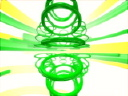 Royalty Free Video of Swirling Green Rings