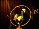 Royalty Free Video of a Rooster Weather Vane