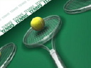 Royalty Free Video of Tennis Balls and Rackets