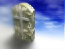Royalty Free Video of Tombstones With Crosses