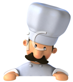 Royalty Free Clipart Image of a Baker
