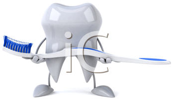 Royalty Free Clipart Image of a Toothbrush
