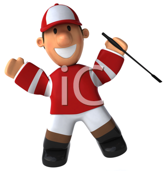 Royalty Free Clipart Image of a Jockey