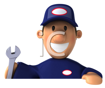 Royalty Free Clipart Image of a Mechanic