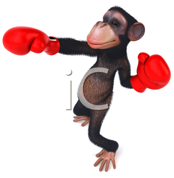 Royalty Free Clipart Image of a Money Wearing Boxing Gloves