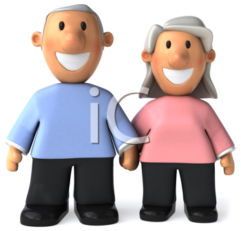 Royalty Free Clipart Image of an Older Couple
