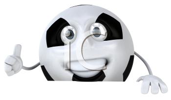 Royalty Free Clipart Image of a Human Soccer Ball