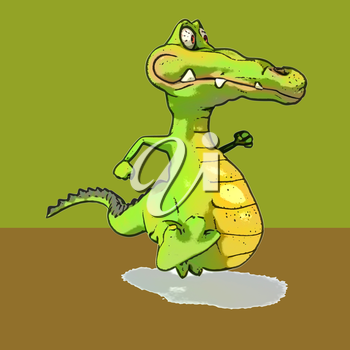 Fun crocodile