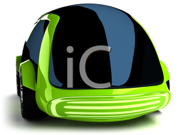 Royalty Free 3d Clipart Image of a Green Car