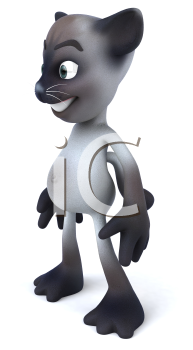 Royalty Free 3d Clipart Image of a Cat