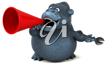 Fun gorilla - 3D Illustration
