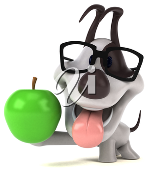 Fun dog - 3D Illustration