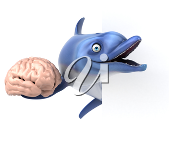 Fun dolphin - 3D Illustration