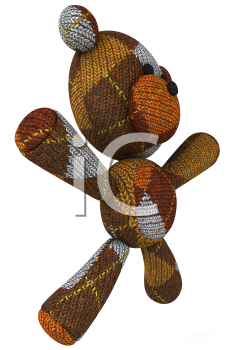 Royalty Free 3d Clipart Image of a Teddy Bear