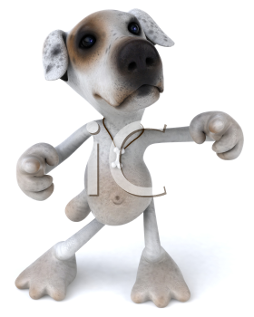 Royalty Free 3d Clipart Image of a Jack Russell Terrier Dog