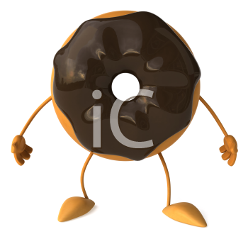 Royalty Free Clipart Image of a Doughnut