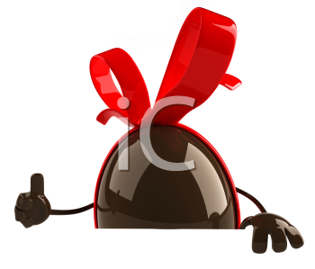 Royalty Free Clipart Image of a Chocolate Easter Egg