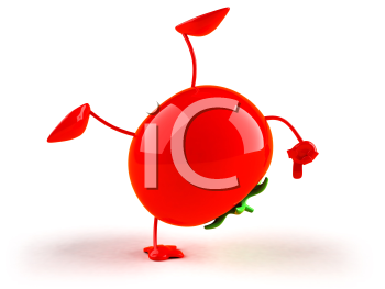 Royalty Free 3d Clipart Image of a Tomato