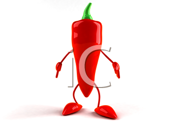Royalty Free 3d Clipart Image of a Red Pepper
