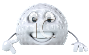 Royalty Free Clipart Image of a Golf Ball Man