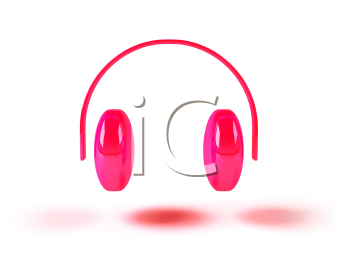 Royalty Free 3d Clipart Image of Headphones