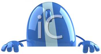 Royalty Free Clipart Image of a Computer Mouse With Hands