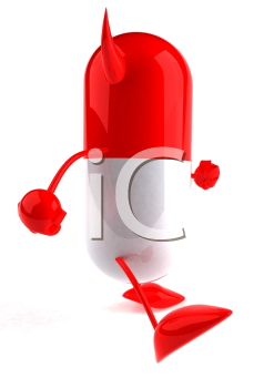 Royalty Free 3d Clipart Image of a Pill