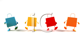 Royalty Free 3d Clipart Image of Shopping Bags