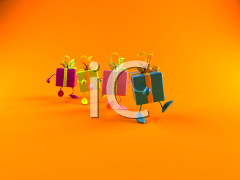 Royalty Free 3d Clipart Image of Gifts