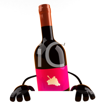 Royalty Free 3d Clipart Image of Wine