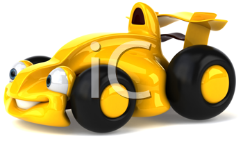Royalty Free Clipart Image of a Sporty Car