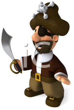 Royalty Free Clipart Image of a Pirate