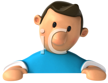 Royalty Free Clipart Image of a Man