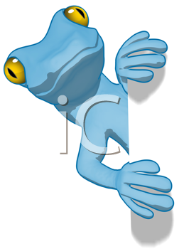 Royalty Free Clipart Image of a Gecko