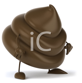 Royalty Free Clipart Image of Poop