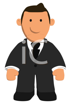 Royalty Free Clipart Image of a Dejected Businessman