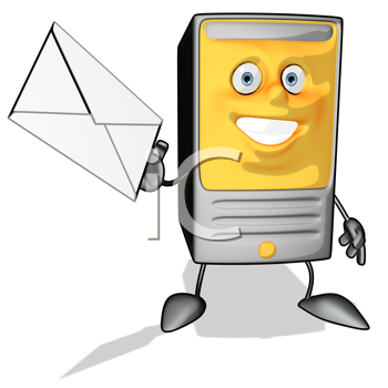 Royalty Free Clipart Image of a Mailbox With Letter