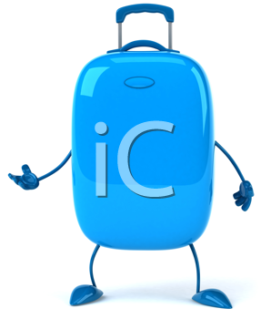 Royalty Free Clipart Image of a Blue Suitcase