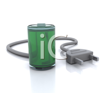 Royalty Free Clipart Image of a Cord