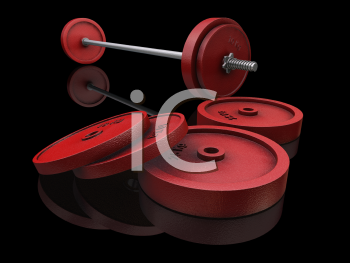 Royalty Free Clipart Image of a Barbells
