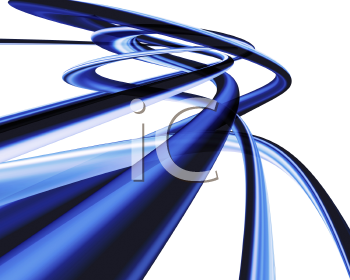 Royalty Free Clipart Image of an Abstract Blue Design
