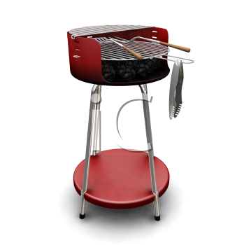 Royalty Free Clipart Image of a Barbecue