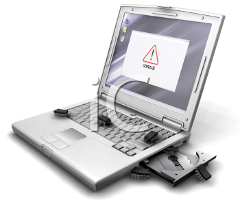 Royalty Free Clipart Image of Computer Viruses