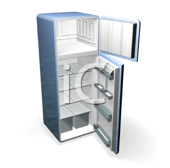 Royalty Free Clipart Image of a Refrigerator