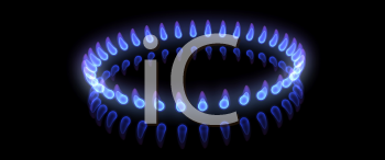 Royalty Free Clipart Image of a Ring of Flames